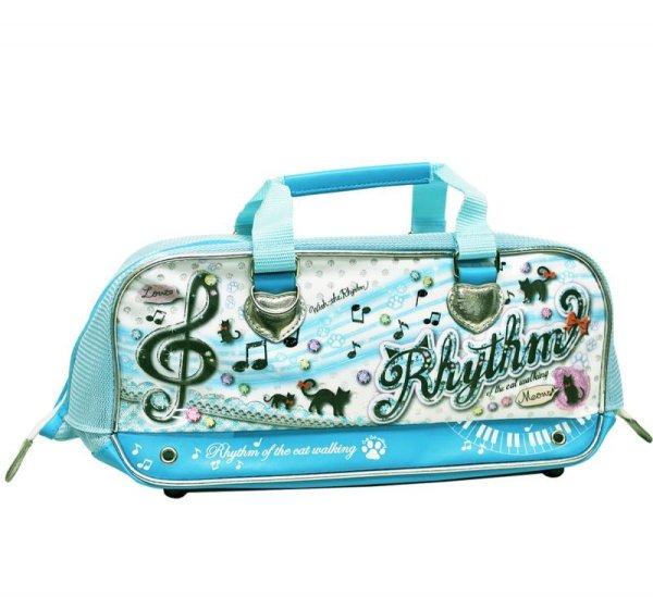 画像1: 画材バッグ リズム かわいい音符柄の小学生女の子向け画材バッグ (1)