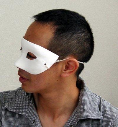 画像2: 仮面づくり 仮装用白無地マスク ハロウィン/無地/色塗り工作 工作素材 仮装素材