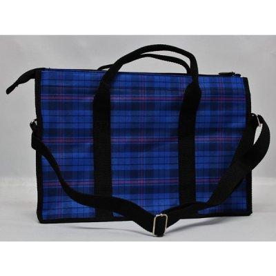 画像2: 書初めバッグ ブルー 男女兼用の書き初め用具が収納出来る書道バック